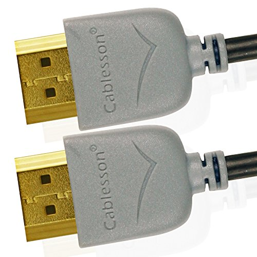 Cables HDMI Ivuna Slim Flex 2m de alta Velocidad - HDMI Tipo A, HDMI 2.1/2.0b / 2.0a / 2.0/1.4-4K, 3D, UHD, ARC, Full HD, Ultra HD, 2160p, HDR - Ultra Diseño Delgado - Grisrey