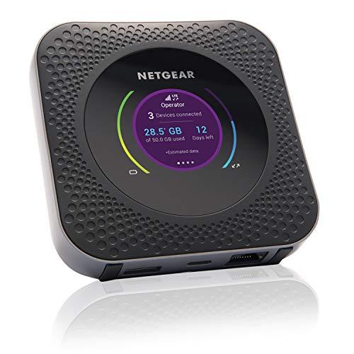 NETGEAR Nighthawk M1 Mobiler WLAN Router / 4G LTE Router MR1100 (bis zu 1 GBit/s Download-Geschwindigkeit, LTE Cat16 Hotspot für 20 Geräte, WiFi überall einrichten, für jede SIM-Karte freigeschaltet)
