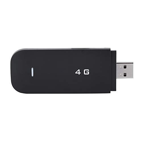 LTE Surfstick,Mobiler Hotspot Router 4G Wi-Fi Hotspot LTE Modem USB WiFi Wireless Router,Tragbar 4G FDD B1/B3 USB WiFi Dongle Modem Adapter USB Netzwerkkarte Schwarz(Ohne WiFi)