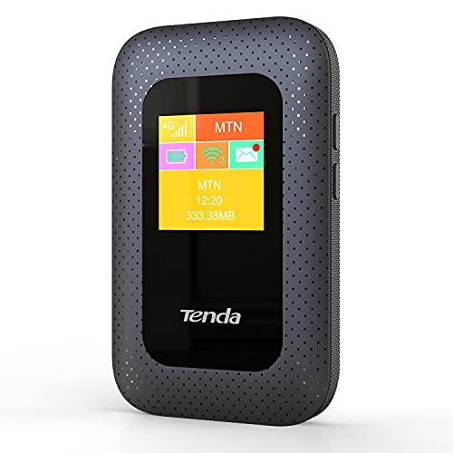Tenda 4G185 Mobiler WLAN Router (4G/LTE bis zu 150Mbit/s Download, 50Mbit/s Upload, Hotspot, Cat.4), 2100mAh Akku, Plug & Play, kompatibel mit Allen SIM Karten